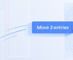 Move or copy multiple entries
