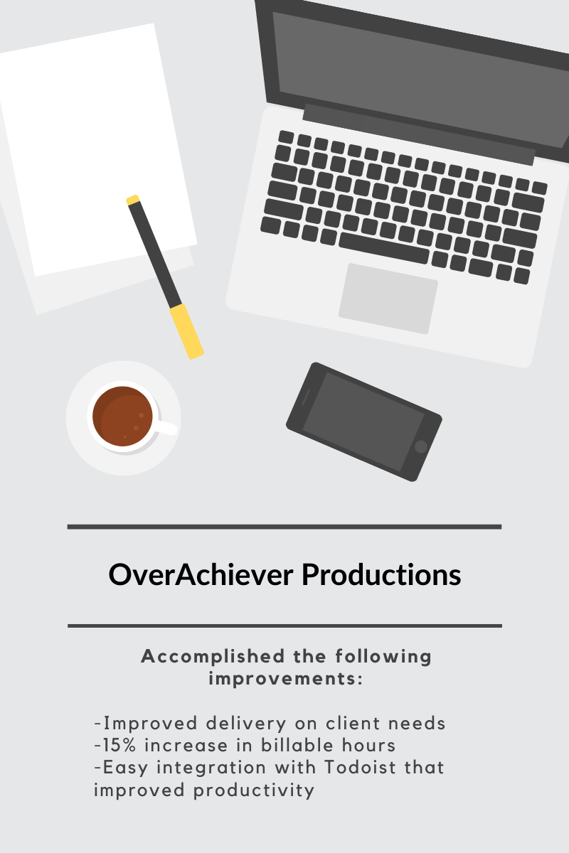 OverAchiever Productions Improvements with Hourstack