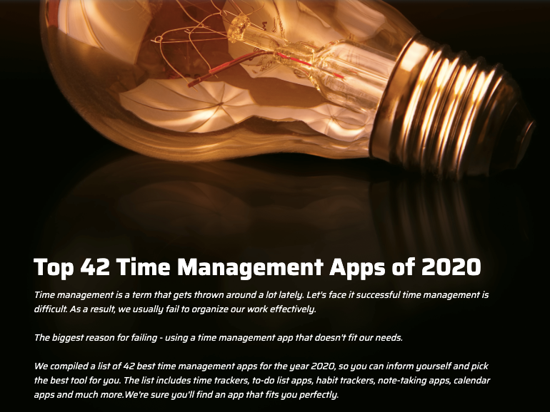 Top 42 Time Management Apps of 2020